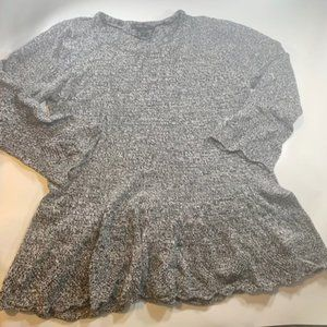 Style & Co Sweater Top Peplum Bell Sleeves XL